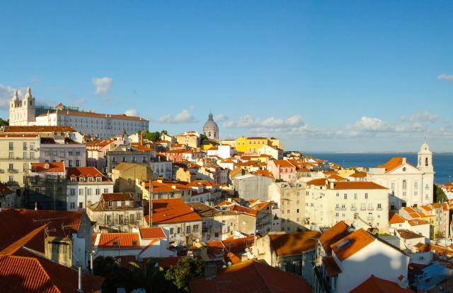 Лиссабон и его достопримечательности, вид со смотровой площадки