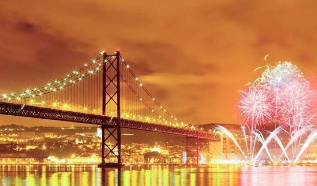 Лиссабон в новогоднюю ночь