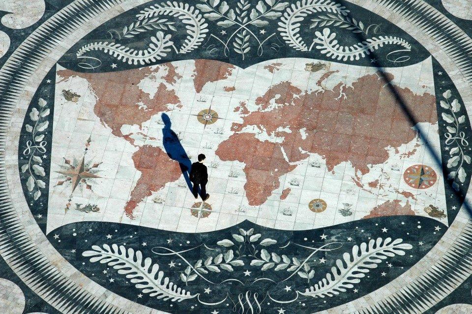 Португалия, карта открытий в районе Белень