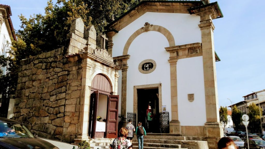 Португальский город Гимарайнш на севере Португалии
